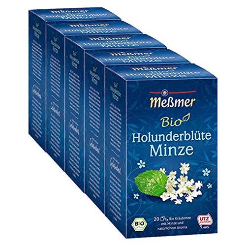 Meßmer Bio Holunderblüte-Minze, 5er Pack