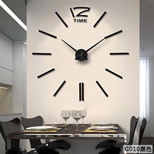 Aemember Wanduhr_Amazon Diy Spiegel Wall-Clock Wohnzimmer Uhren Großhandel, Schwarz G 010