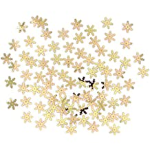 Gold Snowflake Sprinkles Confetti for Winter/Frozen themed Party, Christmas Cards/Table Decoration, Weddings, Birthdays, Festive - 14g in each Pack