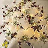 Ficelle de Fil de cuivre menée cônes de pin de Noël de chaîne chaîne de lumières étoilées
