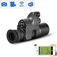 WILDGAMEPLUS 656ft Reichweite 1080P HD-Kamera Digital Outdoor wasserdicht und schmutzabweisend Jagd Nachtsichtgerät Wifi optisch IR Infrarot 4x ~ 28x Zoom Zielfernrohr Andiord / iOS APP NV007