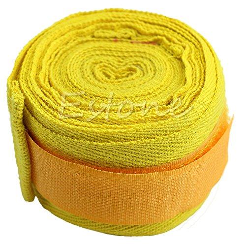 Kofun 2Stück, Boxen Boxen Hand Wraps Bandagen-Schutz Faust Boxsack, Baumwollmischung, gelb, 1 Pair