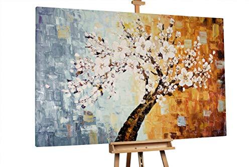 'Hoffnungsschimmer' 180x120cm | Baum Blüten Jahreszeiten Blumen XXL | Modernes Kunst Ölbild