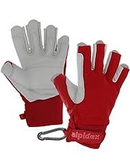 Alpidex Klettersteighandschuhe BLACK BOA 2.0 unisex Echtleder Lederhandschuhe Kletterhandschuhe Half Finger Gloves Via Ferrata