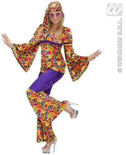 KOSTÜM - HIPPIE GIRL - Größe 38/40 (M) *** SAMTLOOK (Kostüm Girl Hippie 60er)