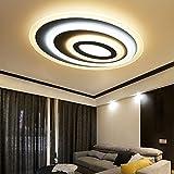 Modern Stil LED Deckenleuchte Dimmbar Fernbedienung, Kreativ Oval-Design Stufenlos Dimmbar 3000k-6500k Deckenlampe Acryl Lampenschirm Küche Studie Lampe Wohnzimmerlampe Badlampe Flur Deckenbeleuchtung