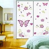 Hanmero Mariposas diseño Vinilo Pegatina Decorativa Infantil Adhesiva Para Pared