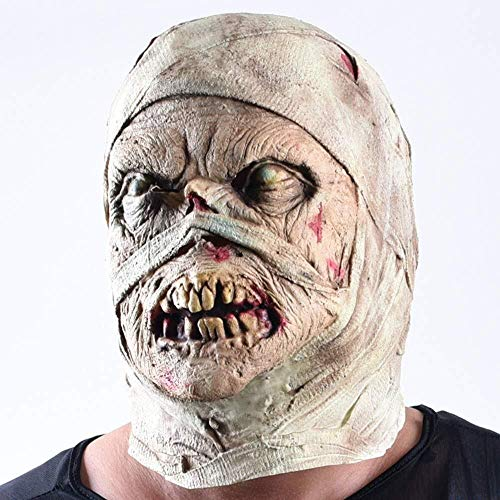 Funny Ghost Kostüm - Mummy Latex Mask, Horror Haunted House Kostüm Zombie Funny Scary Creepy Ghost Kostüm