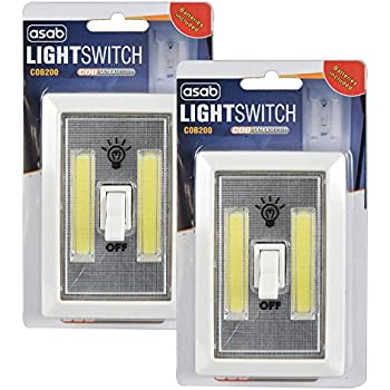 COB LED 3W Light Switch Super Bright Battery Powered No Wire Portable Night Lamp