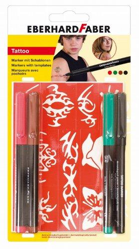 """EBERHARD FABER 559501 Tattoo Marker """"Basic"""", 4er Blisterkarte"""