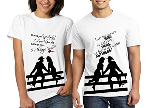 CACA ANP Cowboy Girl in Love Couple Combo Tshirts (Pack of 2)