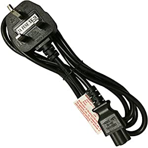 Lite-am 1 8m C5 Mickey Mouse Clover Leaf Mains Power Cable Cord Lenovo Asus  Gateway Sony HP Tosh