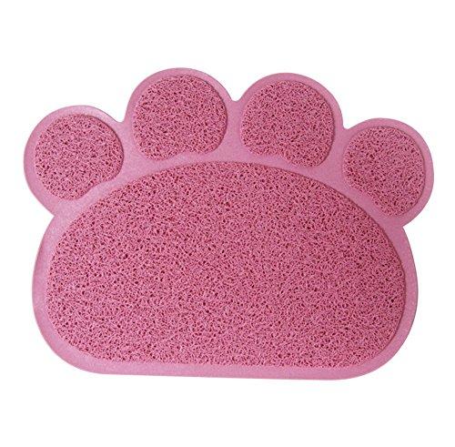 Ylen Forma de Pata PVC Manta de Estera del Perrito Gato Antideslizante Alfombra del Plato del Alimento de Animal Doméstico