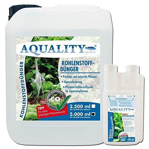 AQUALITY Aquarium CO2 Kohlenstoffdünger (GRATIS Lieferung in DE - Für prächtige, sattgrüne Aquarium-Pflanzen. Reduziert Algen, effiziente Kohlenstoffquelle), Inhalt:5 Liter