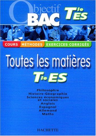 Objectif Bac Terminale ES par Alexandre Blin, Jean-Rémy Cuenot, Jean Duma, Uta Gauthier