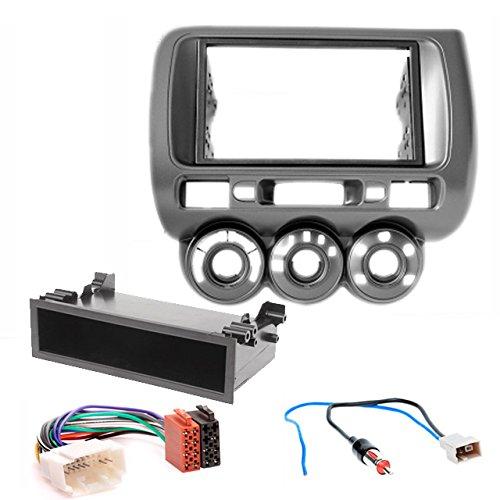 CARAV,kit di montaggio per la mascherina dell'autoradio, a doppio DIN, con adattatore ISO e adattatore antenna