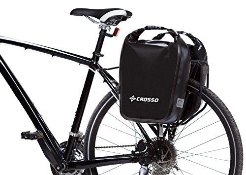 CROSSO DRY SMALL CO1010C 30 L Fahrradtasche Bike Gepäckträgertasche Gepäcktasche Schwarz