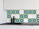 Küche Fliesen Aufkleber Modernes Muster Vinyl Film für Badezimmer Wand Fliesen Ideen verschiedene Größen - 16pcs
