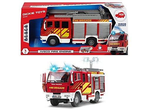 RC Feuerwehr kaufen Feuerwehr Bild 1: Dickie Toys 203717002 - Iveco Fire Engine, Feuerwehrauto mit Freilauf, mit Licht- und Soundfunktion, mit Wasserspritze, 30cm*
