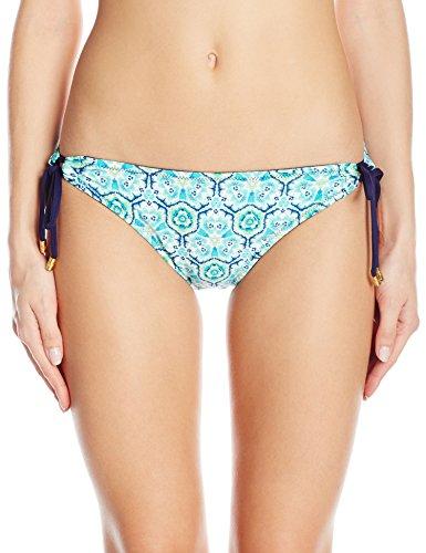 Reversible Tie Side Bikini (Helen Jon Damen Lanikai Reversible Tunnel Hipster Bikinihose - Türkis - Small)