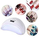 SMC 48W UV LED Nageltrockner mit extra Maniküre Set, mit LCD display mit 4 Timern (15s / 30s / 60s/ 99s) lichthärtungsgerät für Trocknung von Gelnägel und Zehennägel, Weinachtsgeschenk für Damen