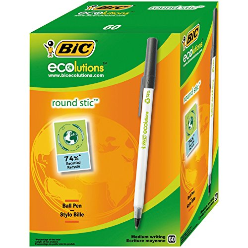 BIC 880684 - Pack de 60 bolígrafos, color negro