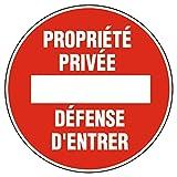 Novap - Panneau - Propriete privee defense d'entrer - Diametre 180Mm Rigide
