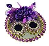 #10: Loops n knots Purple Bling Wedding/Engagement Ring Platter For 2 Rings