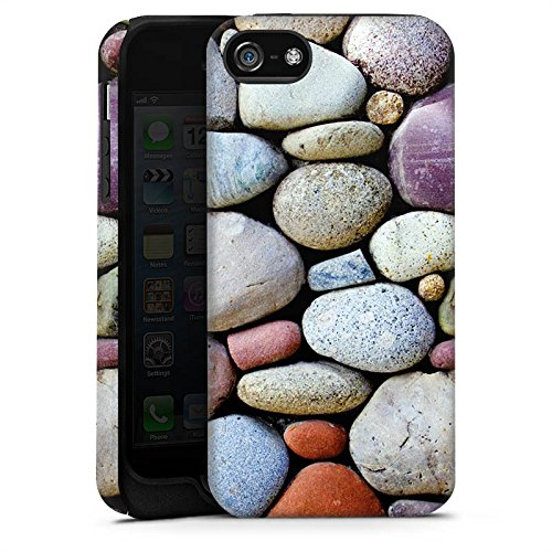 Apple iPhone X Silikon Hülle Case Schutzhülle Kieselsteine Steine Fels Tough Case matt