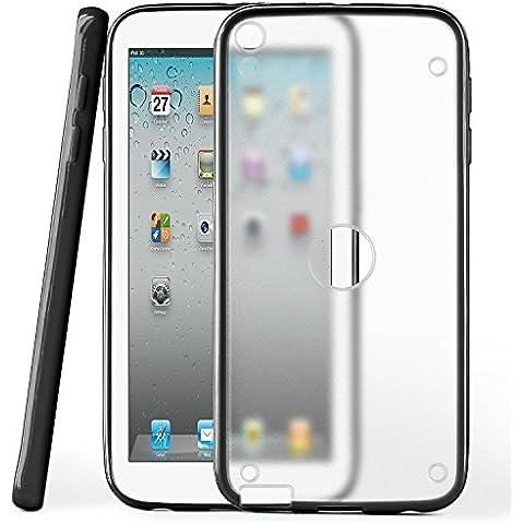 Funda protectora OneFlow para funda iPad 2 / 3 / 4 Carcasa silicona TPU 1,5mm | Accesorios cubierta protección móvil | Funda móvil paragolpes bolso traslúcida transparente en Deep-Black