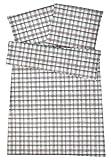 Carpe Sonno warme Biberbettwäsche 155 x 220 cm Grün Karierte Winter-Bettwäsche mit Reißverschluss aus 100% Baumwolle Flanell - 2-TLG Bettwaren Set mit Kopfkissenbezug