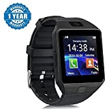 Captcha Smartwatch With Sim/SD Card/Camera Support for Android/iOS Devices (Black)