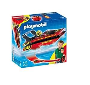 Playmobil - 4341 - Jeu de construction - Hors-bord à emporter
