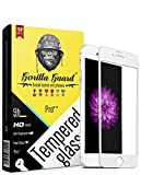 Gorilla guard's HD+ White bezled 5D tempered glass screen protector for Apple iPhone 6/6s+ Plus Plus 5.5inch (PRO++ series) 10H hardness, oleophobic, UV protect, 2.5D rounded edges, neo coated, free installation kit.