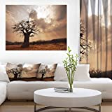 Design Art Großer Baobab Baum unter clouds-modern Landschaft Art Wand Leinwand, 50,8x 30,5cm