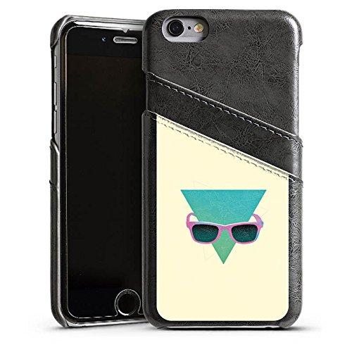Apple iPhone 4 Housse Étui Silicone Coque Protection Hipster Triangle Triangle Étui en cuir gris