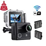 NEXGADGET Action Camera 14MP 1080p Impermeabile Sports Camera 170 Grado Lente Ultra-Grandangolare, 2 Pcs Batterie Ricaricabili