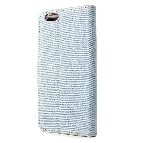 iPhone 6, Denim, P,, plastik, dunkelblau, iPhone 6 (11,9 cm / 4,7 Zoll) Hellbalu