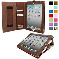 Snugg iPad Air 2 Caso (Camuffamento), Copertura Ecopelle Intelligenti 'Executive',