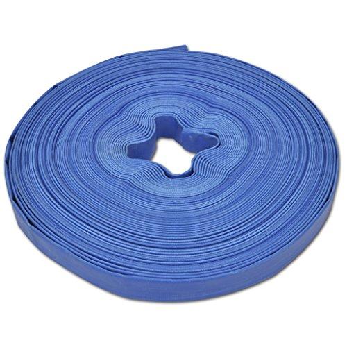 Festnight 50m Flexibler PVC Wasser Schlauch Flachschlauch Wasserschlauch Gartenschlauch Durchmesser 1 Zoll