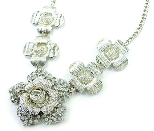 Halskette 4529 edle Statement Kette silber Damen Collier silvershine