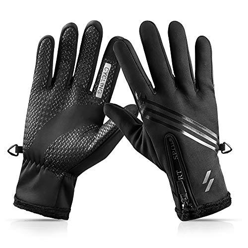 CosyInSofa Handschuhe Touchscreen Warm Winterhandschuhe wasserdichte Anti-Rutsch Laufhandschuhe für Radfahren, Laufen, Wandern, Fahren, Klettern, Touchscreen Sport Handschuhe (XXL: 8.2-8.7in)