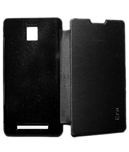 Aara Rich Diary Smart Case Flip Cover Pouch Battery Back For Lava XOLO Era - Black - Black