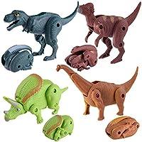 Zarupeng Colección de huevo de dinosaurio de simulación de transformación creativa dinosaurio modelo de colección de
