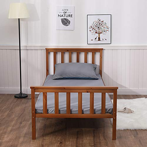 Home Source Bed, Natural, 3ft Single