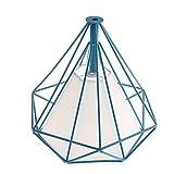 MagiDeal Abat-jour Suspension Géométrique Forme en Diamant Lampe au Plafond Décoration - Couverture bleu-blanc