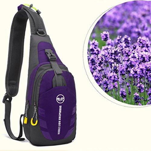 sukisuki Outdoor Travel Trekking Brust Tasche Casual Wandern Camping Fahrrad Sling Bag Tasche Violett