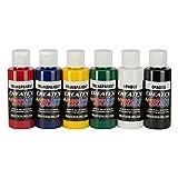 Aérographe Couleurs 6x 60ml Createx Transparent Base couleurs de base Set aérographe Couleurs
