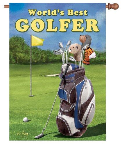 Premier Kites 52861House Brilliance Flagge, World 's Best Golfer, 28von ()