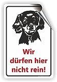 Hunde dürfen nicht rein / Keine Hunde / T-016 (10x15cm Aufkleber)
